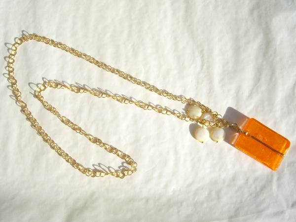 画像3: 胸元に明るいオレンジで好感度アップ ペンダント 【カラー・オレンジ】【カラー・ホワイト】