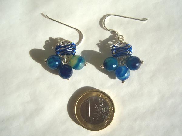 画像3: カプリ島の海ような深いブルー ピアス 【カラー・ブルー】