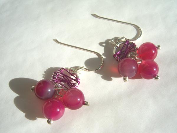 画像2: ワイン色でしっとり可愛い ピアス 【カラー・ピンク】【カラー・ワイン】