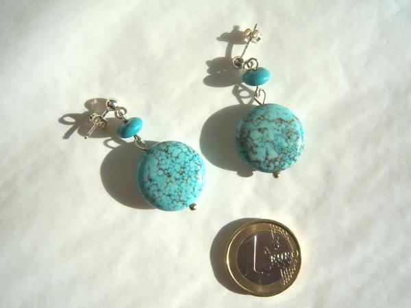 画像3: 大粒トルコ石の爽やかブルーを耳元に ピアス 【カラー・ブルー】