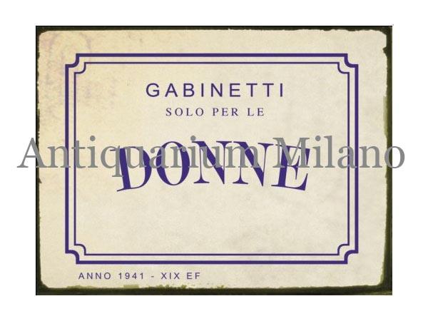 画像1: イタリア語パネル 女性専用お手洗い GABINETTO SOLO PER LE DONNE 【カラー・ブルー】