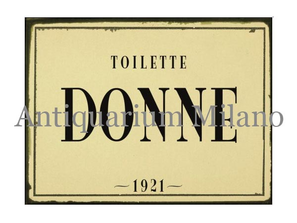 イタリア語パネル お手洗い婦人用 TOILETTE DONNE 【カラー・ブラック】