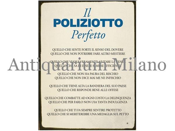 画像1: イタリア語パネル 完璧な警官 IL POLIZIOTTO Perfetto 【カラー・ブルー】