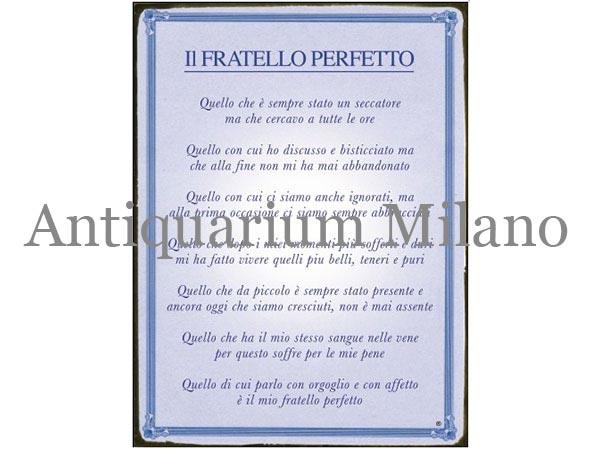 画像1: イタリア語パネル 完璧な兄弟 IL FRATELLO PERFETTO 【カラー・ブルー】