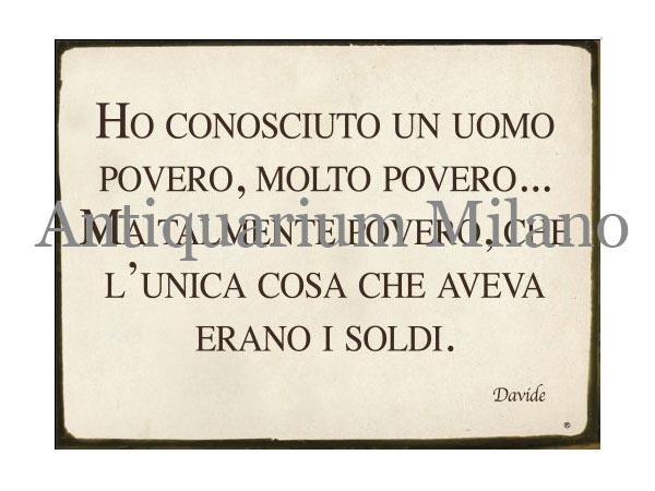 画像1: イタリア語パネル 極貧の人と知り合った… HO CONOSCIUTO UN UOMO... 【カラー・イエロー】