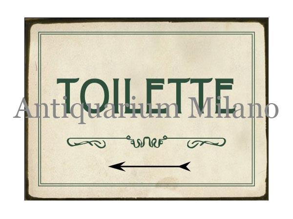 画像1: イタリア語パネル お手洗い TIOLETTE 【カラー・グリーン】
