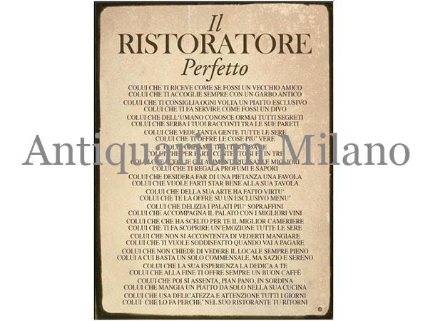 イタリア語パネル 完璧な飲食業者 IL RISTORATORE PERFETTO 【カラー・イエロー】
