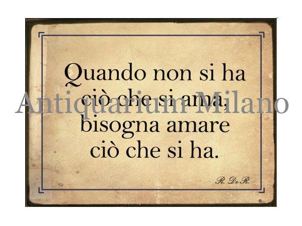 画像1: イタリア語パネル 愛するものをもっていないときは… Quando non si ha... 【カラー・イエロー】