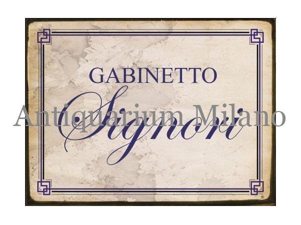 画像1: イタリア語パネル お手洗い紳士用 GABINETTO SIGNORI 【カラー・ブルー】