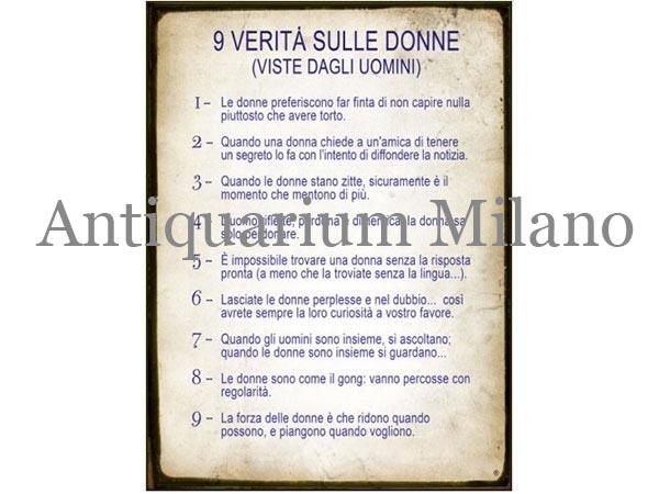 画像1: イタリア語パネル 女たちの9つの本性 9 VERITA' SULLE DONNE 【カラー・ブルー】