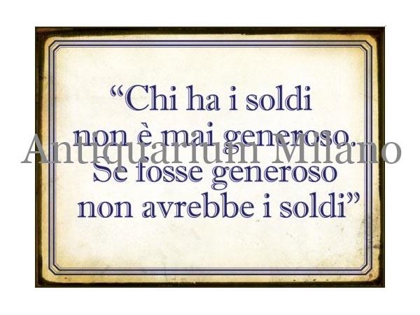 画像1: イタリア語パネル お金を持っている人は… CHI HA I SOLDI... 【カラー・ブルー】