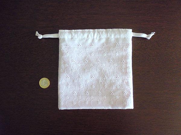 画像2: Ciuccio Milano イタリア製ベビーアイテム マチ付き巾着袋 ピュアホワイト コットン100%【カラー・ホワイト】【カラー・ピンク】