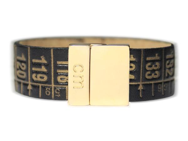 画像1: イタリアンレザーを使ったメジャー・ブレスレット 24金仕様 レザー Royal Gold 【カラー・イエロー】 【カラー・ブラック】