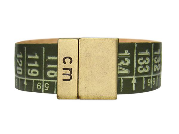 画像1: イタリアンレザーを使ったメジャー・ブレスレット レザー Cuba Green 【カラー・グリーン】【カラー・グレー】