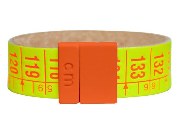 画像1: イタリアンレザーを使ったメジャー・ブレスレット レザー Sunrise Yellow 【カラー・イエロー】【カラー・オレンジ】