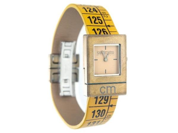 画像1: イタリアンレザーを使ったメジャー・ブレスレット腕時計 レザー Classic Yellow 【カラー・オレンジ】
