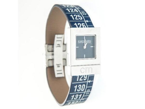 画像1: イタリアンレザーを使ったメジャー・ブレスレット腕時計 レザー Paris Blue 【カラー・グレー】 【カラー・ブルー】