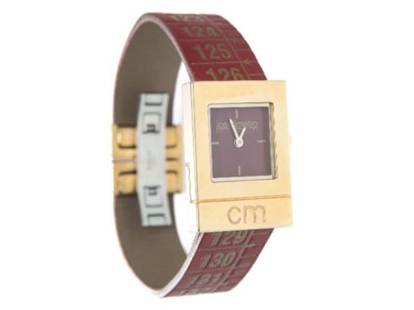 画像1: イタリアンレザーを使ったメジャー・ブレスレット腕時計 24金仕様 レザー Red Gold 【カラー・イエロー】 【カラー・レッド】