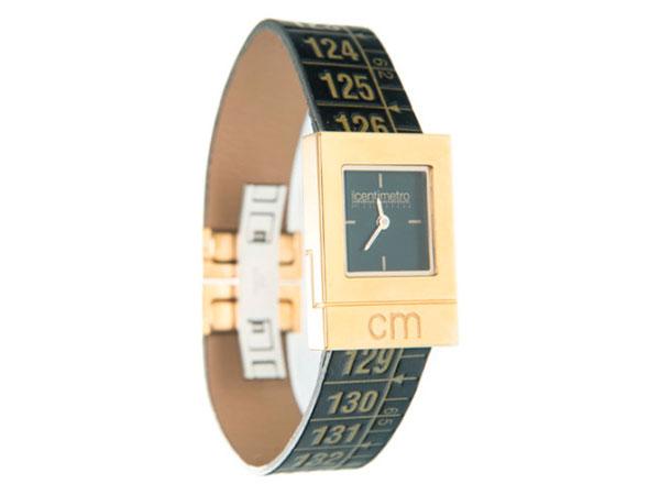 画像1: イタリアンレザーを使ったメジャー・ブレスレット腕時計 24金仕様 レザー Royal Gold 【カラー・イエロー】 【カラー・ブラック】