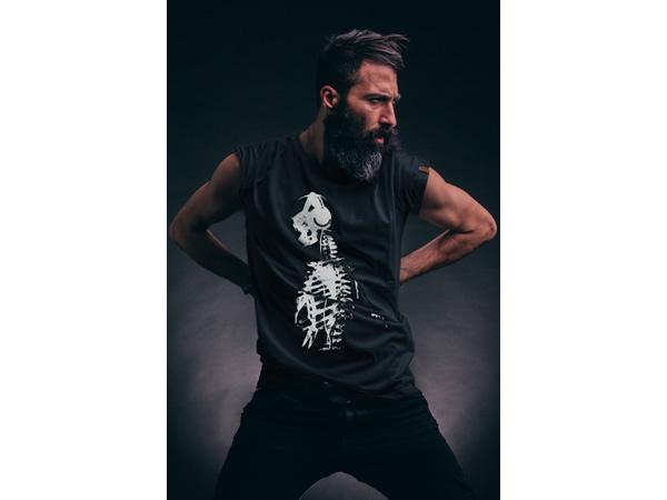画像1: TRAVEL Shirt  Il CentimetroのメンズTシャツ Skeleton Black