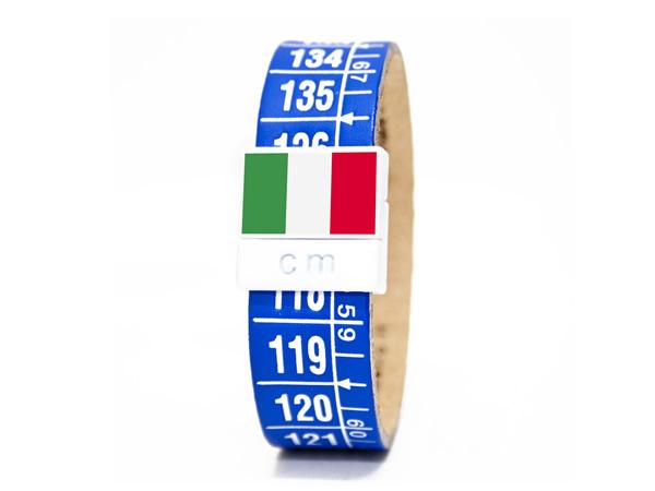 画像1: イタリアンレザーを使ったメジャー・ブレスレット レザー Italia azzurri 【カラー・ブルー】