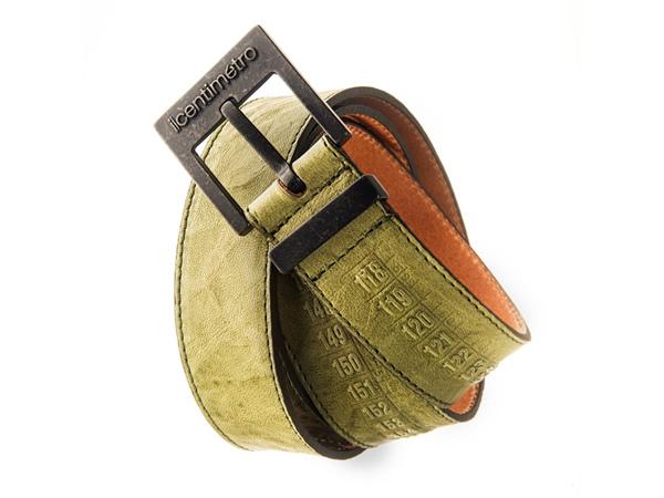 画像1: Il Centimetroのメンズベルト Cintura OldWest Green【グリーン】