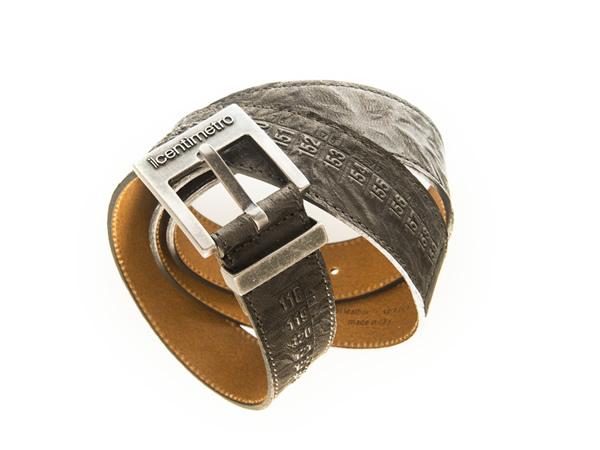 画像1: Il Centimetroのメンズベルト Cintura OldWest Smoke【グレー】【ブラック】