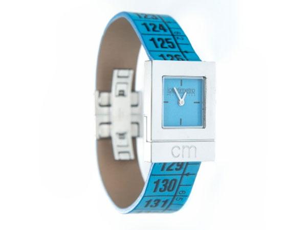 画像1: イタリアンレザーを使ったメジャー・ブレスレット腕時計 レザー Australian Cyan  【カラー・ブルー】