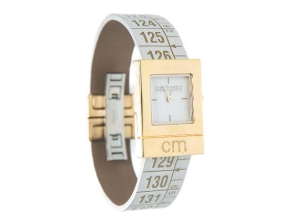 画像1: イタリアンレザーを使ったメジャー・ブレスレット腕時計 24金仕様 レザー Queen Gold 【カラー・ホワイト】