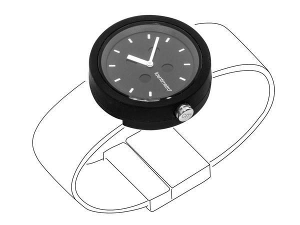 画像1: イタリア メジャー・ブレスレット用腕時計 レザー TimePlug TotalBlack【カラー・ブラック】