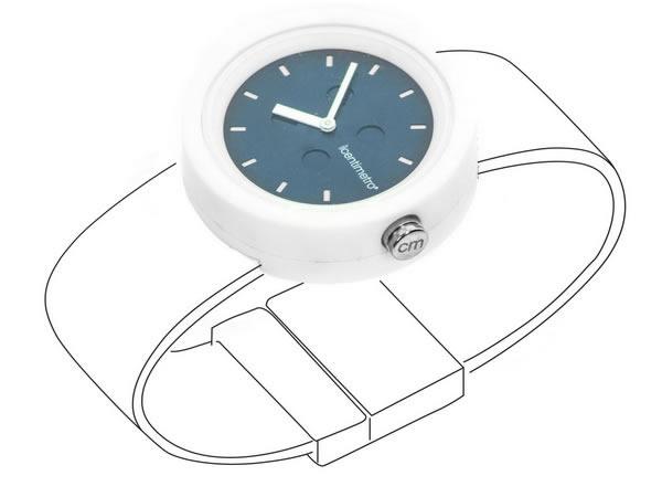 画像1: イタリア メジャー・ブレスレット用腕時計 レザー TimePlug Navy Blue【カラー・ブルー】