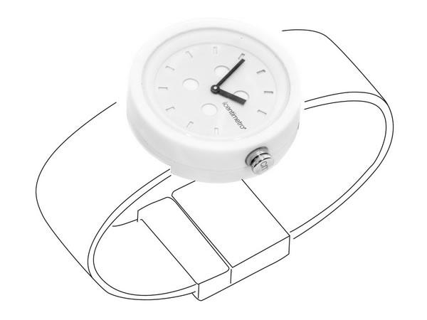 画像1: イタリア メジャー・ブレスレット用腕時計 レザー TimePlug Total White【カラー・ホワイト】