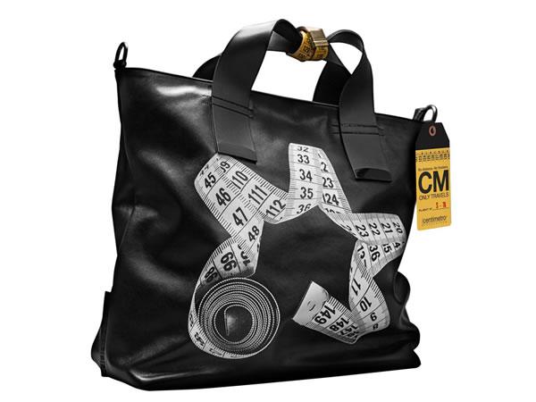 画像1: Il Centimetroのレザーバッグ ショルダーバッグ CITY COLLECTION Shopper work【ブラック】