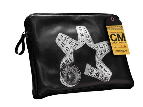 画像1: Il Centimetroのレザーバッグ ブリーフバッグ CITY COLLECTION  Brief bag【ブラック】
