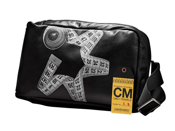 画像1: Il Centimetroのレザーバッグ ボディーバッグ CITY COLLECTION  Body bag【ブラック】