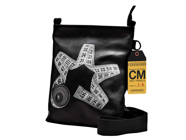 画像1: Il Centimetroのレザーバッグ ショルダーバッグL CITY COLLECTION  Flat bag L【ブラック】