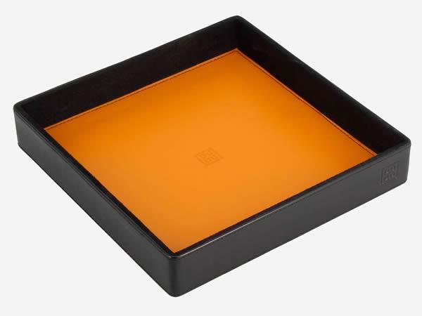 画像1: 【3色展開】DuDu カラフル本革小物入れ キャッチオール 【カラー・ブラック】【カラー・ブラウン】【カラー・ブルー】【カラー・オレンジ】【カラー・グリーン】【カラー・マルチ】