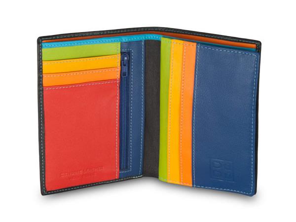 画像1: 【9色展開】DuDu カラフル本革財布 二つ折り 写真入れ付き 【カラー・ブラック】【カラー・ブラウン】【カラー・ブルー】【カラー・オレンジ】【カラー・グリーン】【カラー・レッド】【カラー・マルチ】