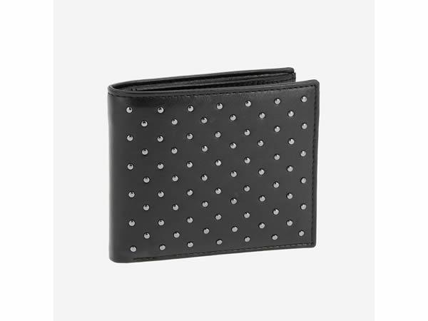 画像1: 【2色展開】DuDu 本革二つ折り財布 ドット【カラー・ブラック】【カラー・ベージュ】