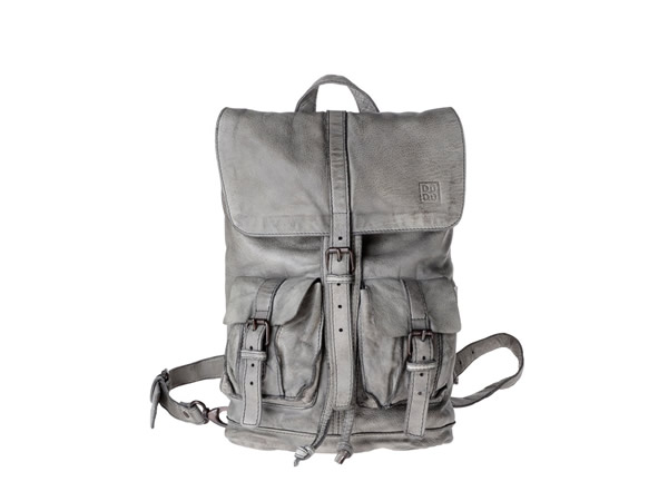 画像1: DuDu 本革リュックサック  Timeless ~ Backpack アッシュグレー【カラー・グレー】