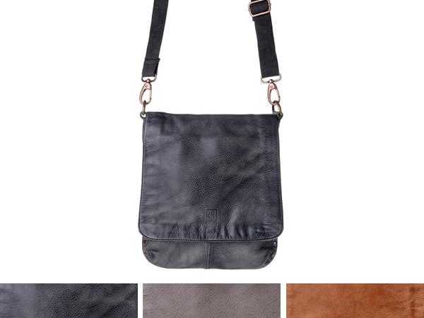 画像1: DuDu シワ加工本革メンズ ショルダーバッグ 3色 【カラー・ブラウン】【カラー・ブラック】【カラー・グレー】
