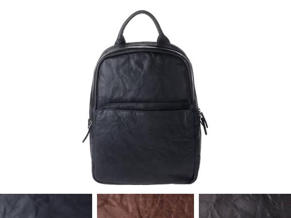 画像1: DuDu シワ加工本革メンズ リュックサック 3色 【カラー・ブラウン】【カラー・ブラック】