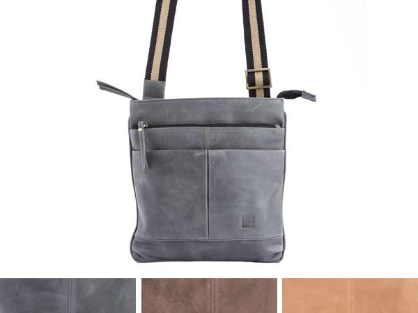 画像1: DuDu 本革メンズ ショルダーバッグ 3色 【カラー・ブラウン】【カラー・ベージュ】【カラー・グレー】