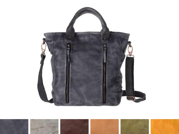 画像1: DuDu シワ加工本革メンズ ショルダー付きトートバッグ 6色 【カラー・ブラウン】【カラー・ブラック】【カラー・グレー】 【カラー・イエロー】【カラー・グリーン】