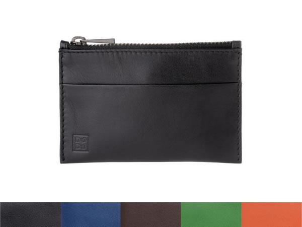 画像1: DuDu シンプル本革ポケット付きキーケース 5色【カラー・ブラック】【カラー・ブラウン】【カラー・ブルー】【カラー・オレンジ】【カラー・グリーン】