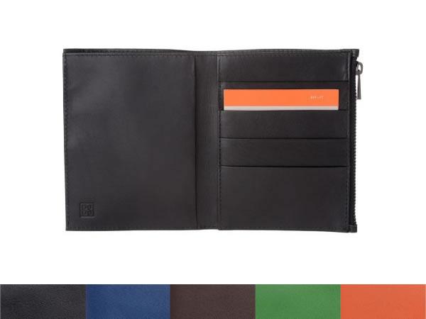 画像1: DuDu シンプル本革二つ折り財布 5色【カラー・ブラック】【カラー・ブラウン】【カラー・ブルー】【カラー・オレンジ】【カラー・グリーン】