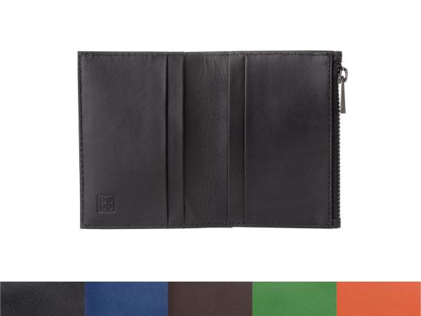 画像1: DuDu シンプル本革カード入れ付き小銭入れ 5色【カラー・ブラック】【カラー・ブラウン】【カラー・ブルー】【カラー・オレンジ】【カラー・グリーン】