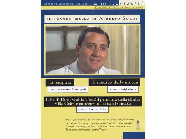 画像1: イタリア語で観るイタリア映画 アルベルト・ソルディ 「Il Grande Cinema: Lo scapolo Il Medico Della Mutua Il Prof. Dott. Guido Tersilli」 3枚組 DVD  【B2】【C1】