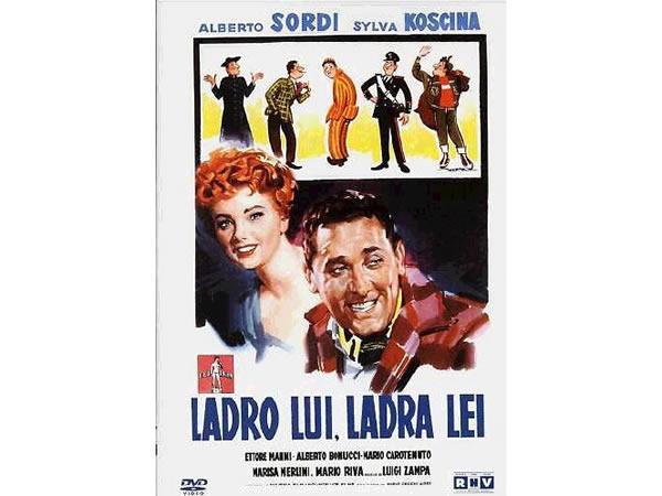 画像1: イタリア語で観るイタリア映画 アルベルト・ソルディ 「Ladro Lui Ladra Lei」 DVD  【B2】【C1】