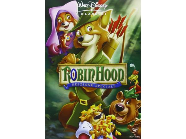 画像1: イタリア語などで観るディズニーの「ロビン・フッド」 DVD【A2】【B1】